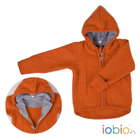 Kapuzenjacke Wollwalk orange