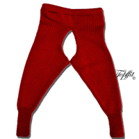 Topffit Woll-Leggings rot